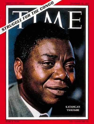 Moise Tshombe Time Magazine Cover, December 22, 1961