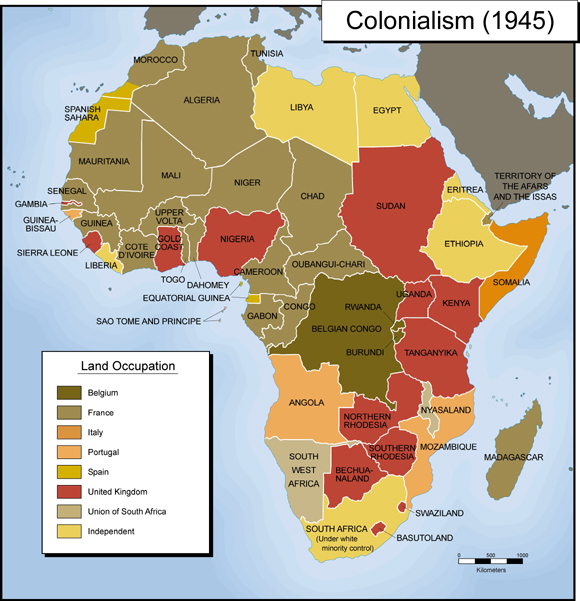 Africa Colonial Map Module Seven (B), Activity Two – Exploring Africa